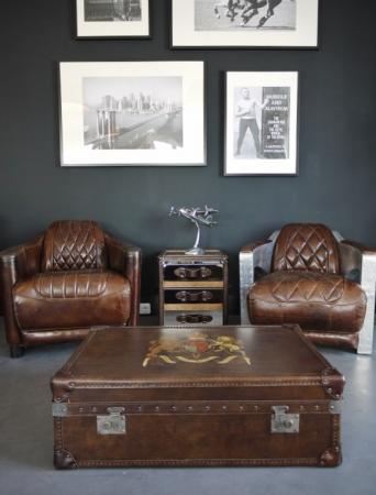 Vintage Ledersessel im Chesterfield Design